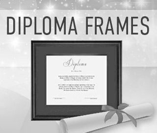 Picture of a diploma and frame. Click to shop Diploma Frames.